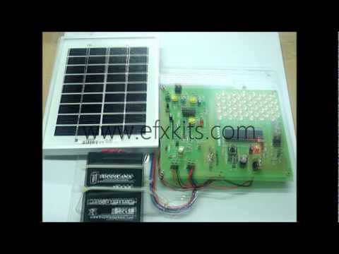 solar based automatic traffic and street light controller