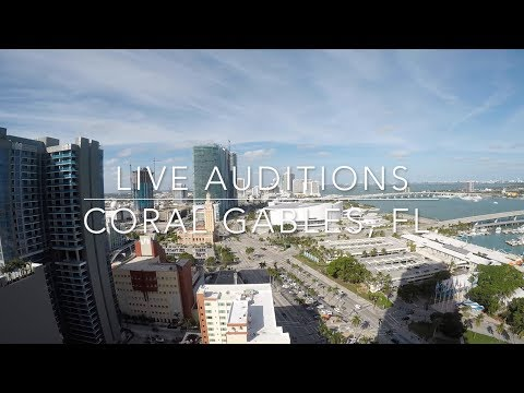 Coral Gables, FL  Live Auditions