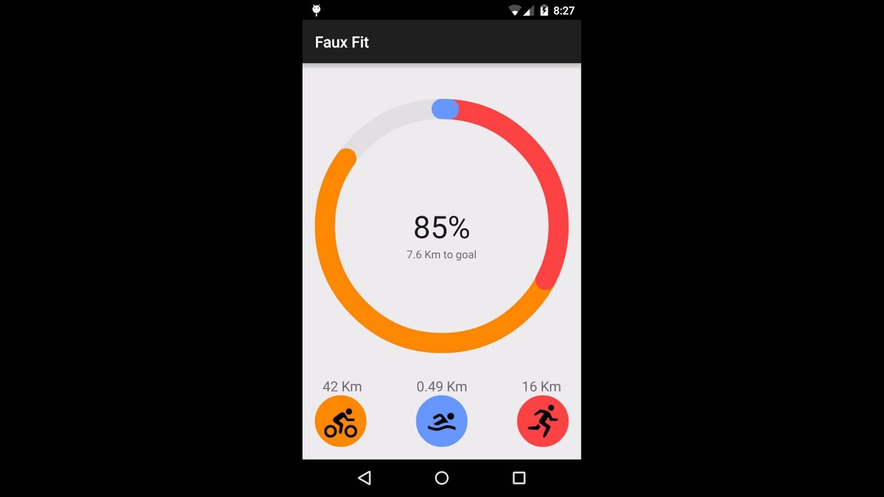 Creating a Google Fit style circular animated view | Android