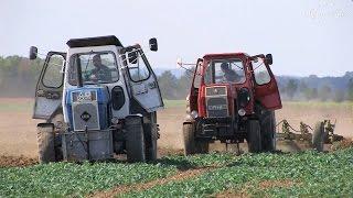 Alte Traktoren pflügen in Axien 6-6 Old Tractors Plowing in Germany