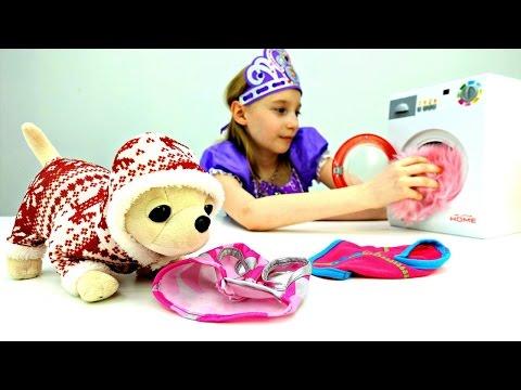 Игрушки для Девочек 🎀 Принцесса София и #ЧиЧиЛав: стираем и гладим вещи! Видео для детей