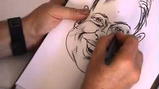 How To Draw Caricatures - Best Way on Youtube - Learn Quickly!!!!