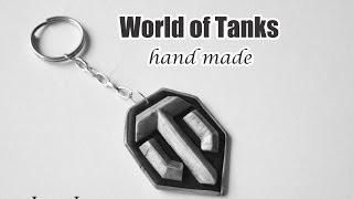 Брелок  World Of Tanks - ПОЛИМЕРНАЯ ГЛИНА - мастер класс. Polymer Clay World Of Tanks