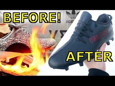 7d80c8e2361 MAKING THE NEW YEEZY V2 BLACK RED CLEAT! - YouTube