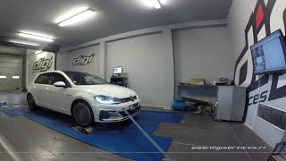 VW Golf 7 GTIperf 230cv DSG Reprogrammation Moteur @ 311cv Digiservices Paris 77 Dyno