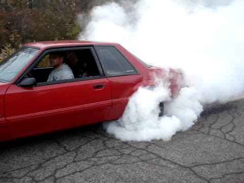 Fredy S Red 1993 Fox Body Ford Mustang Notchback Burnout