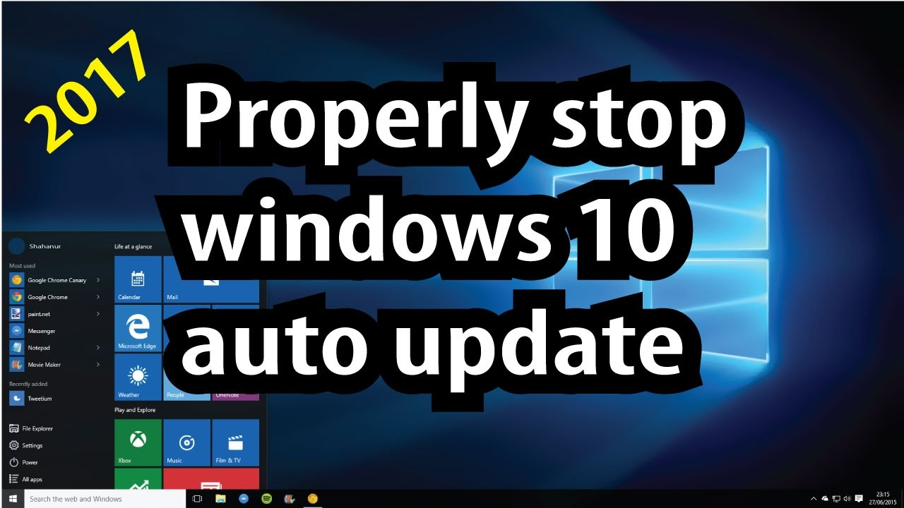 stop windows from auto updating
