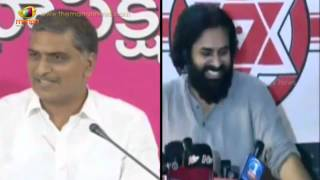 Pawan Kalyan Comments on Harish Rao | Media laughs | Andhra is not Chandrababu Caste