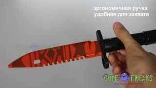 Смотреть видео Видео обзор Штык нож Убийство (Slaughter) - настоящий деревянный нож из дерева онлайн