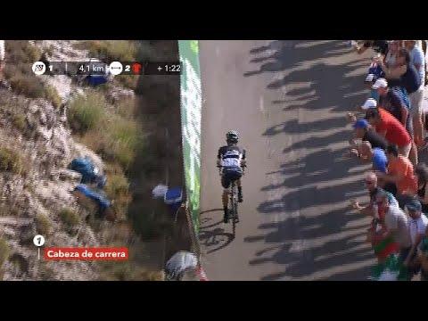 Majka on his way to win the Stage 14 - La Vuelta 2017
