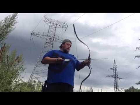 Стрельба из традиционного лука Ходер от Кадиса. Он же венгерский/юаньский/монгольский. 30 метров