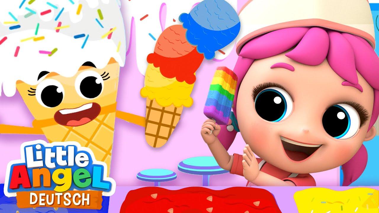 Download Die Eisdiele | Wir holen uns ein leckeres Eis | Zeichentrick | Little Angel Deutsch - Kinderlieder