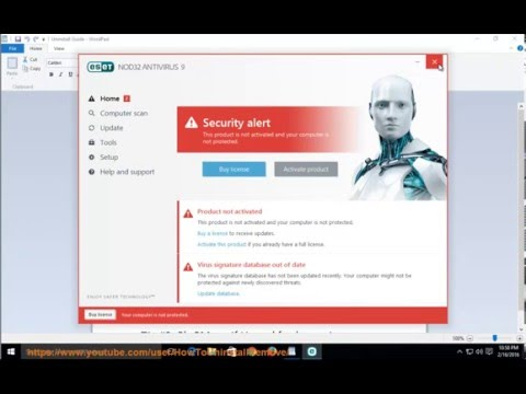 Uninstall ESET NOD32 ANTIVIRUS 9 on Windows 10