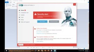 Uninstall ESET NOD32 ANTIVIRUS 9 on Windows 10