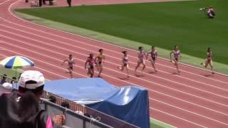 2016学生個人選手権女子100m予選5