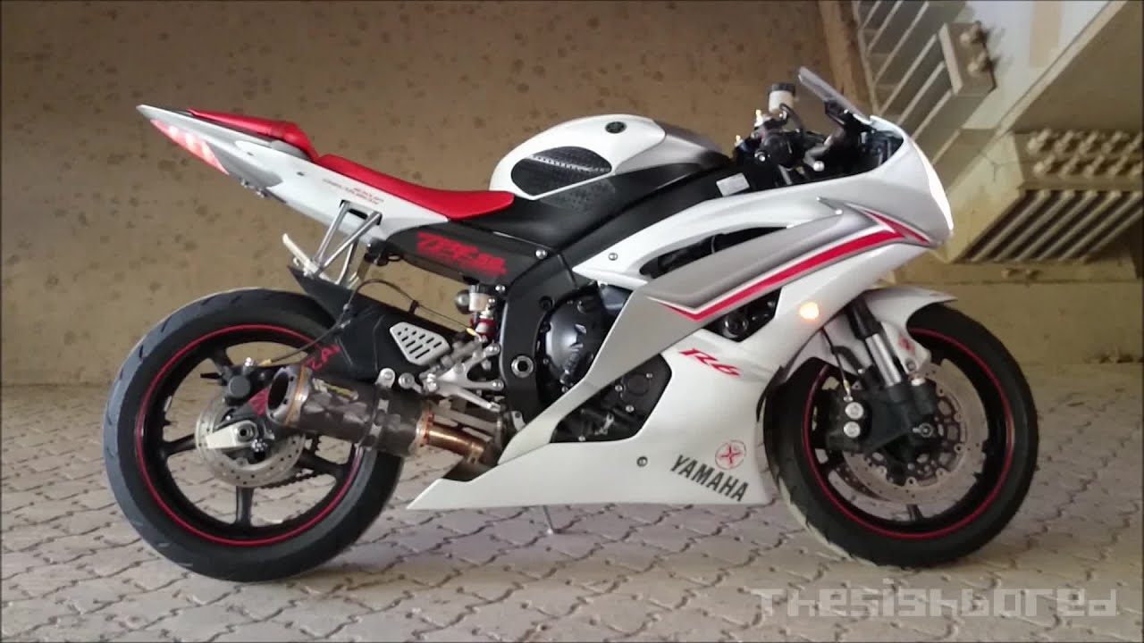 Yamaha yzf r6 two brothers exhaust with mid link pipe doovi for Best exhaust system for yamaha r6