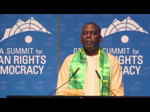 Biram Dah Abeid at Geneva Summit 2017