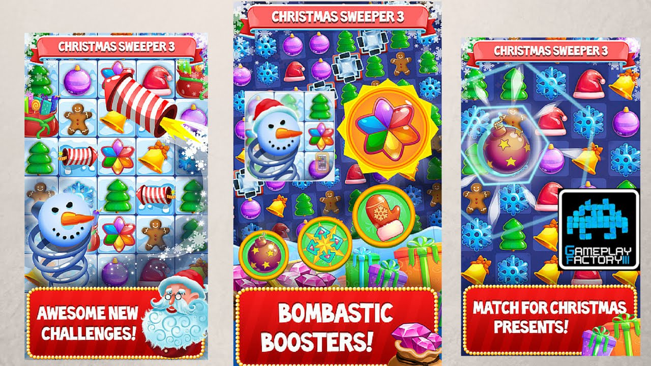 christmas sweeper 3 by smileygamer iosandroid puzzle christmas game