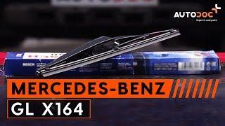 Montaje Escobillas de Limpiaparabrisas delanteras y traseras MERCEDES-BENZ GL-CLASS (X164): vídeo gratis