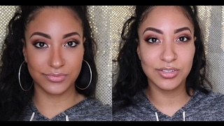Natural Everyday Makeup Routine | Tiny bumps and clogged pores - Oily Skin