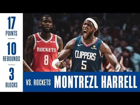 Montrezl Harrell (17p 10r 3b) highlights vs the Houston Rockets