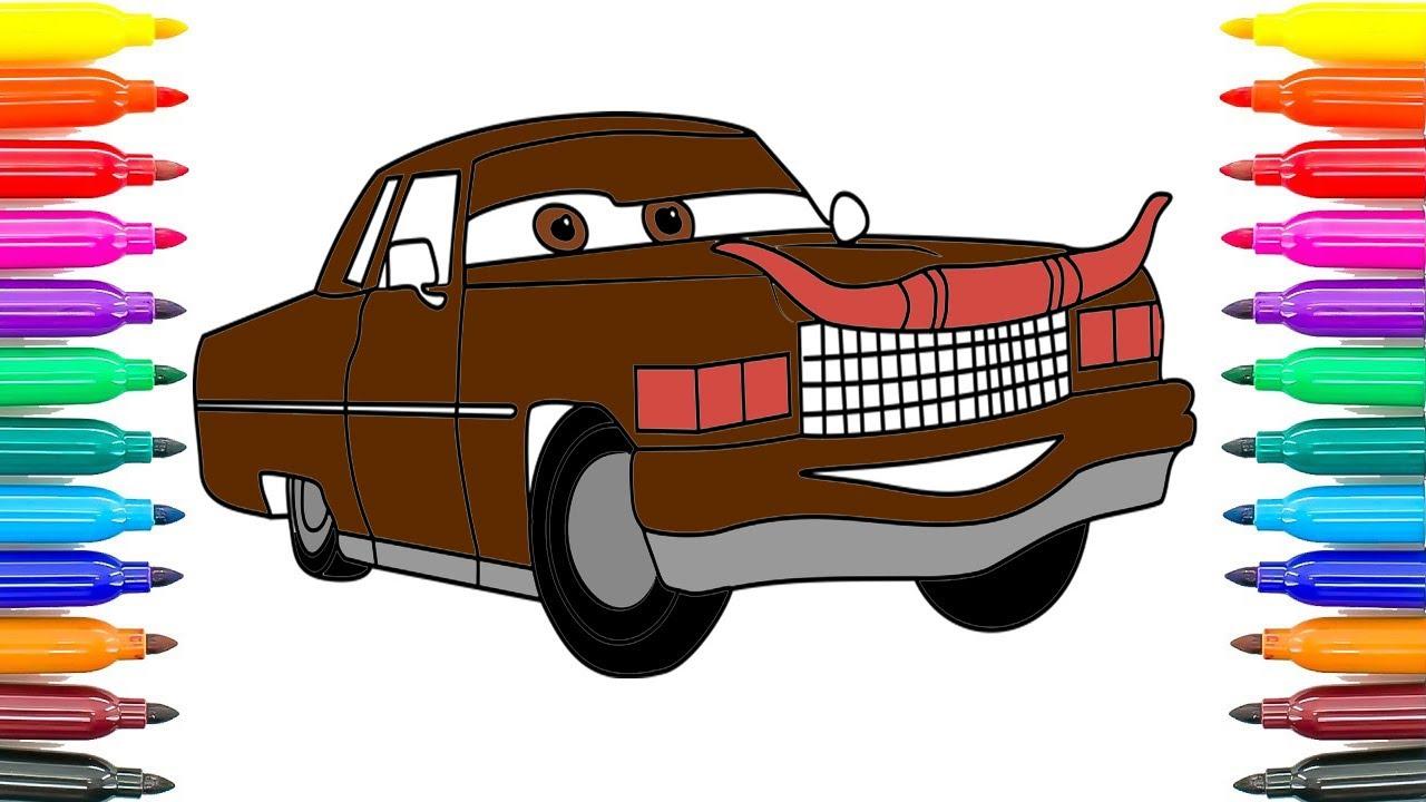 Hoe Kleuren Auto S 3 Tex Dinoco Kleurplaten Hoe Tex Dinoco Auto S