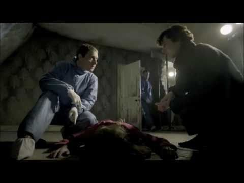 Sherlock - Woman lying dead