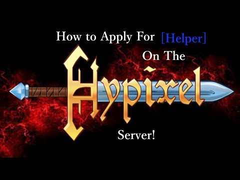 Hypixel: How to Apply for Helper!