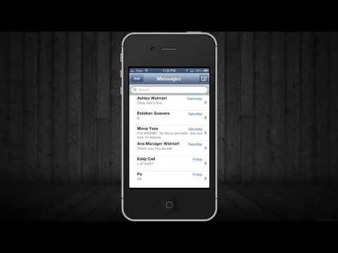 How to Delete text message history msm in iPhone 5, iPhone 4S, iPhone 4, iPhone 3GS, iPhone 3G