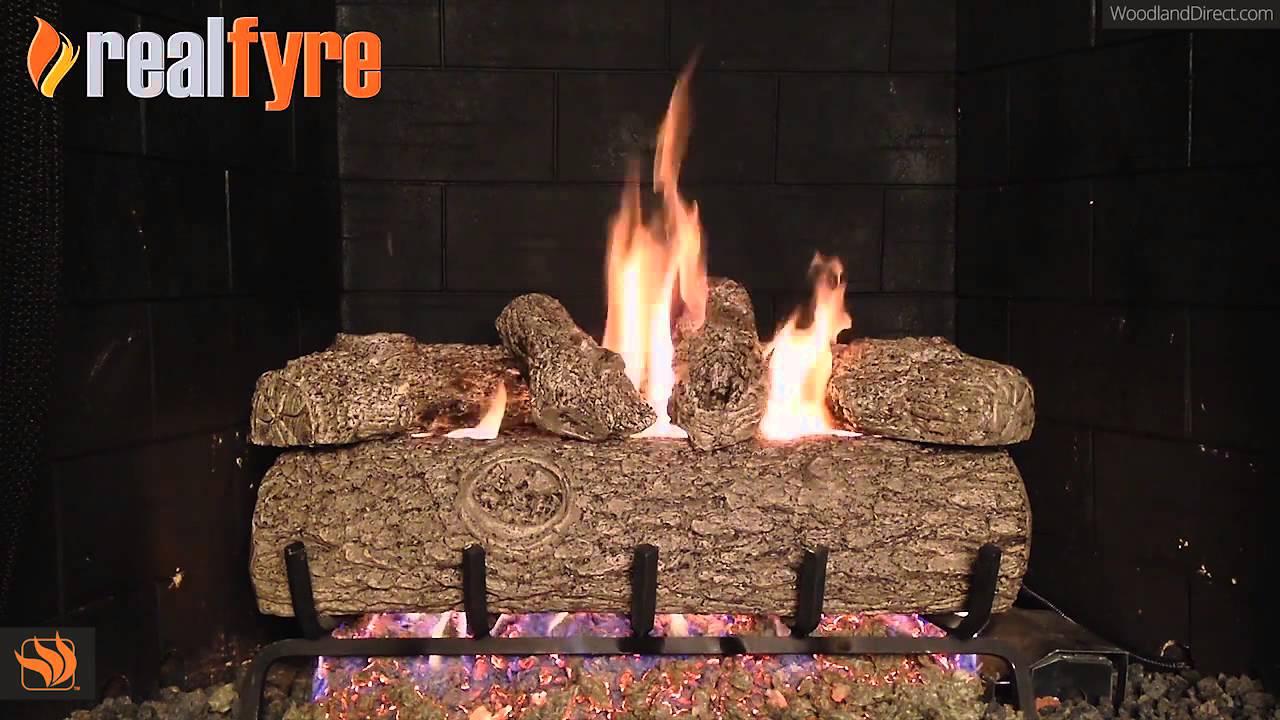 Real Fyre Golden Oak Vented Gas Log Set