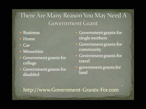 apply for free government grants - YouTube