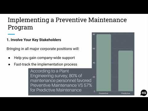 How to Implement a Preventive Maintenance Program and Plan