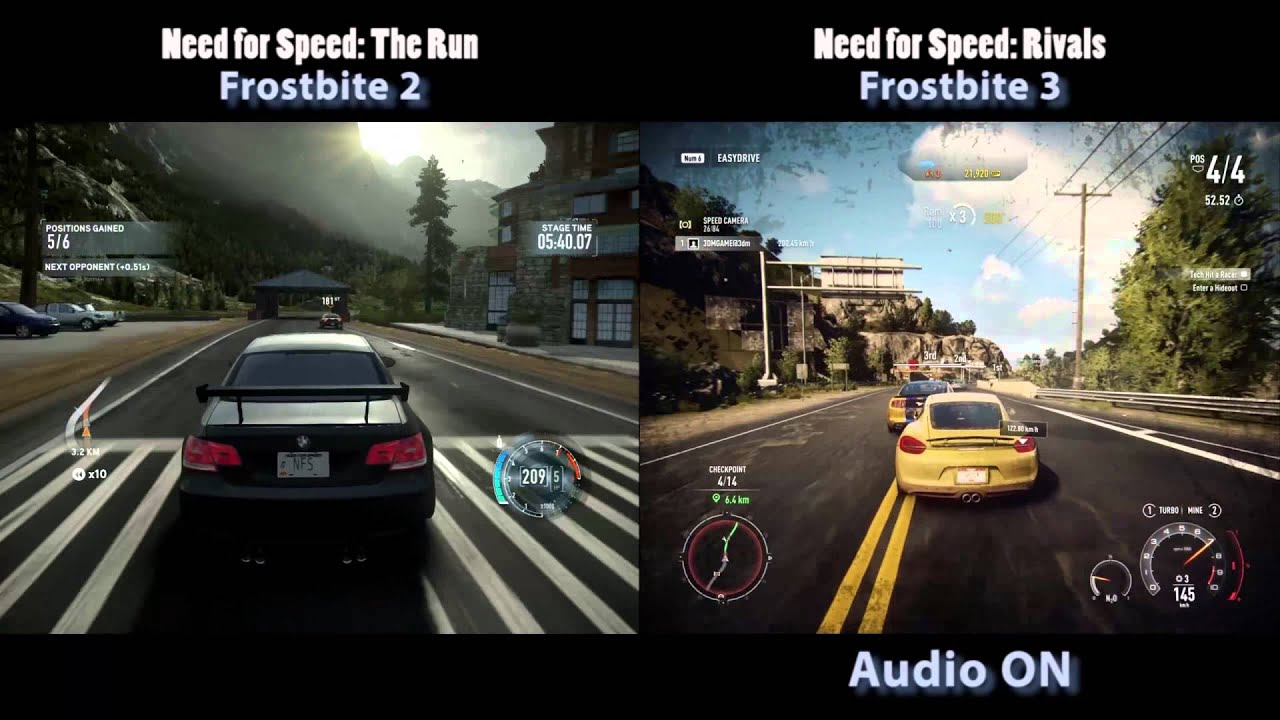 Test Nfs 2015 Need For Speed The Run Vs Need For Speed Rivals Youtube
