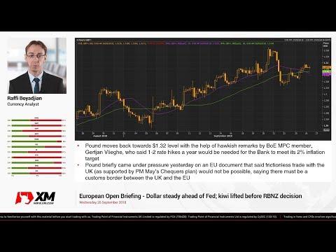 Forex News: 26/09/2018 - Dollar steady ahead of Fed; kiwi lifted before RBNZ decision