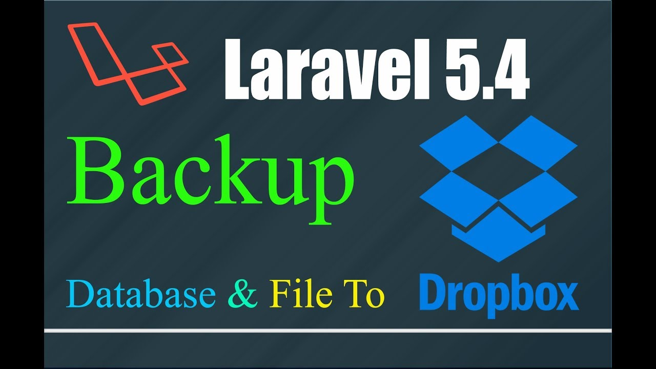 Laravel backup dropbox (L 5 4) | create dropbox API