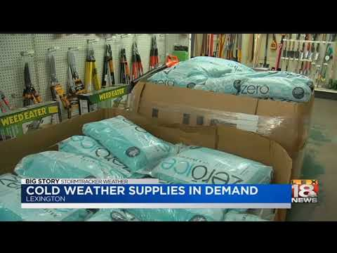 Cold Weather Supplies In Demand