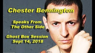 Chester Bennington SPEAKS FROM THE OTHER SIDE Ghost box session AMAZING !!  Linkin park PARANORMAL