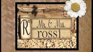 Diy Wedding Gift | Diy Wood Crafting | Rustic Wedding Gift