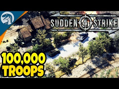 100,000 TROOPS SURROUNDED, BIG TANK BATTLE | Sudden Strike 4 Allied Campaign Gameplay