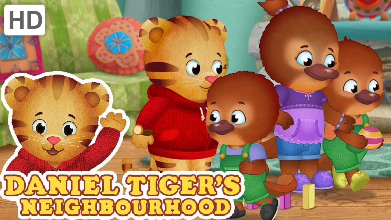 Daniel Tiger - Let\'s Play with My New Neighbors and Baby Sister! | Videos  for Kids