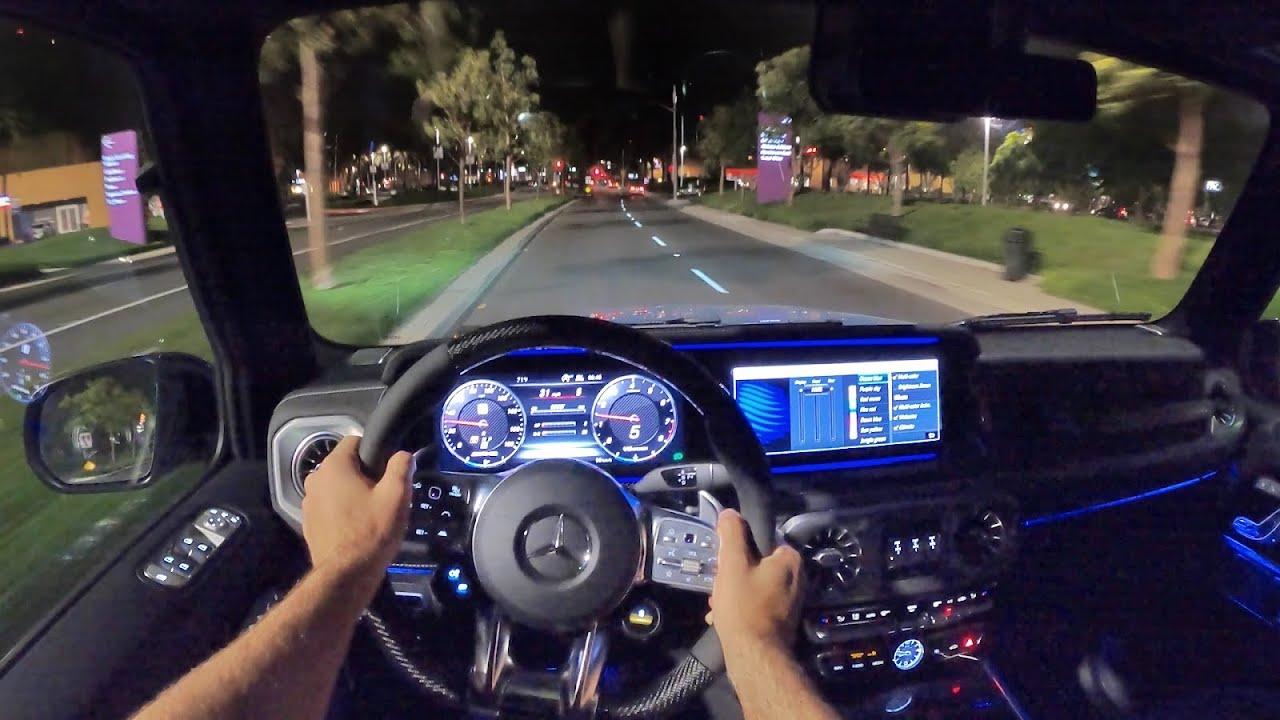 2021 Mercedes-AMG G63 POV Night Drive (3D Audio)(ASMR)
