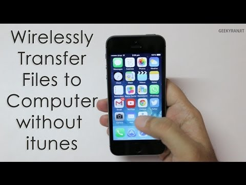 Wirelessly Transfer Media from iPhone to Computer without using iTunes