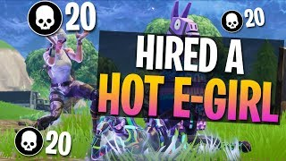 E-Girl Hired To Read Donations & Subs! 20 Kill Solo Gameplay (Fortn...