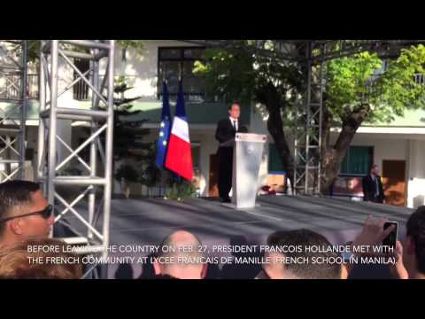 French President François Hollande meets French community in Manila