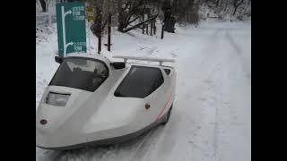 オミクロン3サイドカーで真冬のツーリング国道50号走りドイツ村、ア...