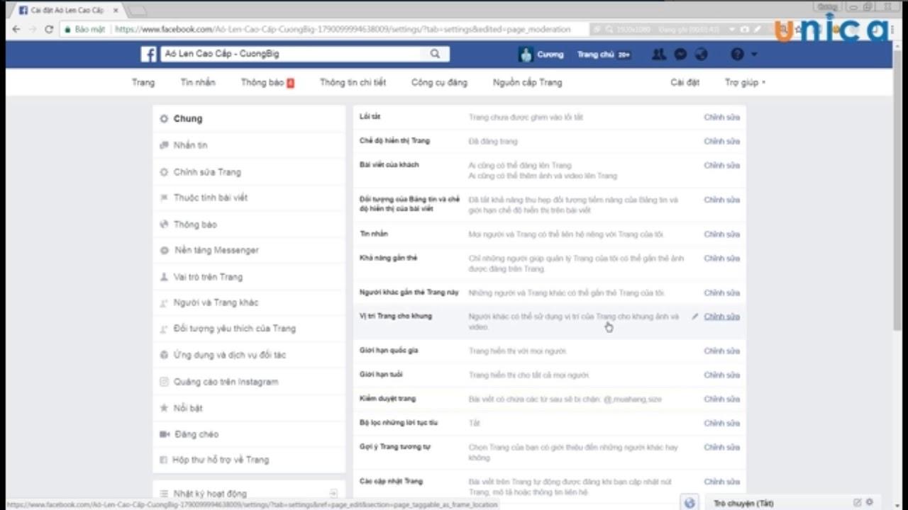 Học Facebook Marketing #14: Hướng dẫn cài đặt cơ bản Fanpage
