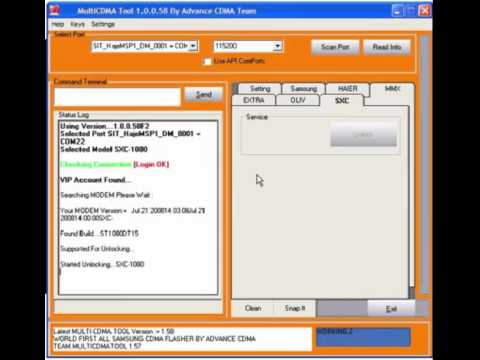 Unlock Tata Indicom SXC 1080 CDMA USB Modem