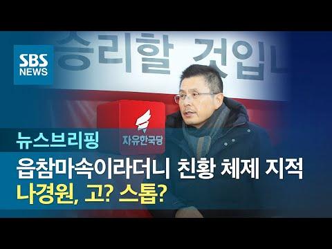 """""""읍참마속""""이라더니 '친황 체제' 지적…나경원, 고? 스톱? / SBS / 주영진의 뉴스브리핑"""