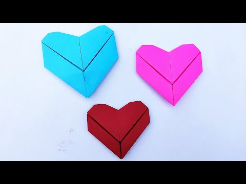 How to Fold Paper Heart    Easy Origami Heart    DIY