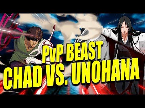 CHAD THE NEW PvP BEAST VS. UNOHANA Bleach Brave Souls